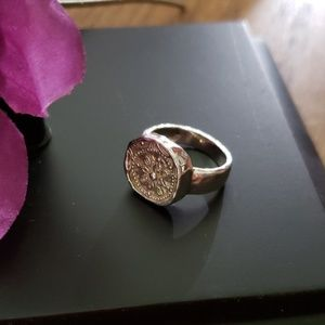 Silpada .925 Sterling silver coin ring
